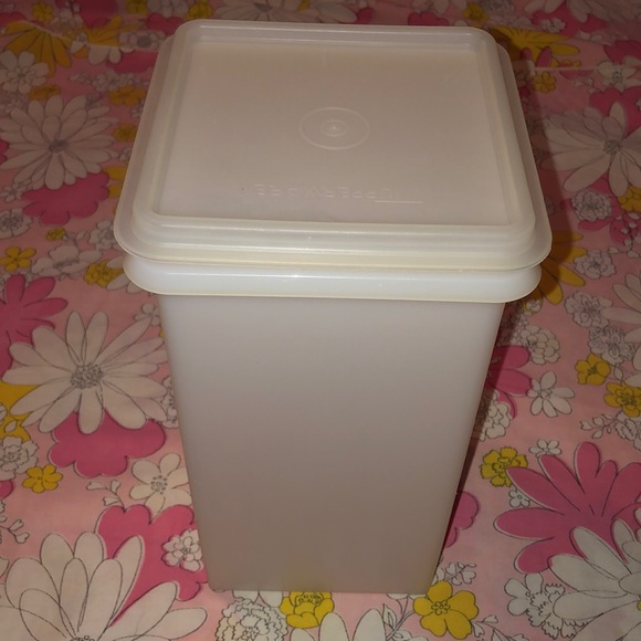 VTG- Tupperware tall clear canister